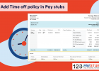 Time off policy in pay stubs